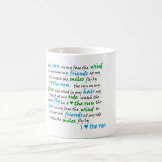 I heart  the run mug! coffee mug