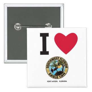 I HEART the Southwest Florida Eagle Cam 2 Inch Square Button
