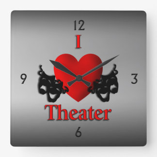 I Heart Theater Wall Clock