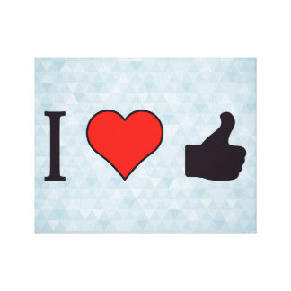 I Heart Thumbs Up Canvas Prints