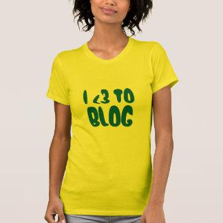 I Heart To Blog Shirt