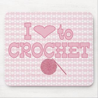 I heart to Crochet Mouse Pad