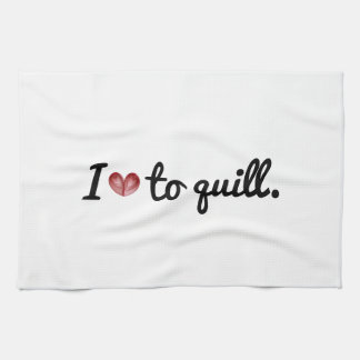 I (heart) to Quill, Kitchen Towel