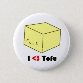 I heart Tofu 2 Inch Round Button