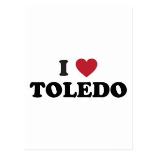 I Heart Toledo Ohio Postcard