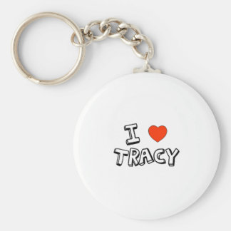 I Heart Tracy Basic Round Button Keychain
