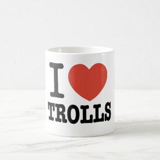 I Heart Trolls Basic White Mug