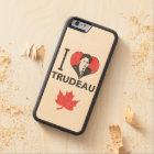 I Heart Trudeau Carved Maple iPhone 6 Bumper Case