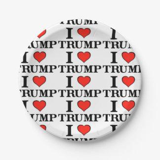 I Heart Trump Paper Plate