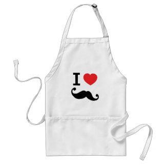 I heart twirly Moustache Standard Apron