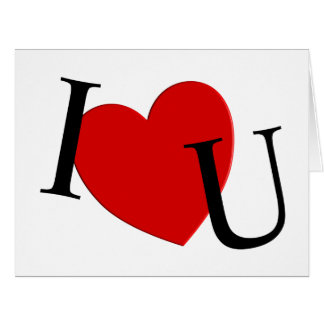 I Heart U Extra Large 8 x 10 Card