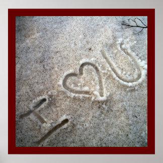 I Heart U Poster
