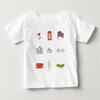I Heart UK, British Love, United Kingdom Landmarks Baby T-Shirt