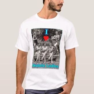 I Heart Ukulele Ladies T-Shirt