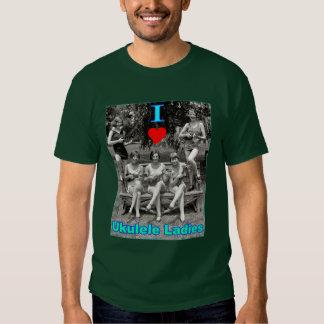 I Heart Ukulele Ladies T-shirts