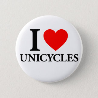 I Heart Unicycles 2 Inch Round Button