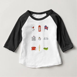 I Heart United Kingdom, British Love, UK landmarks Baby T-Shirt