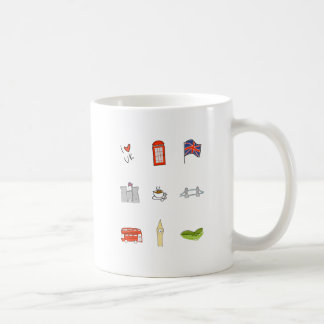 I Heart United Kingdom, British Love, UK landmarks Coffee Mug