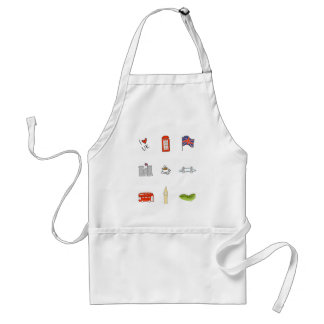 I Heart United Kingdom, British Love, UK landmarks Standard Apron
