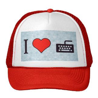 I Heart Using A Black Keyboard Trucker Hat