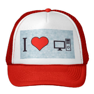 I Heart Using Desktop Trucker Hat
