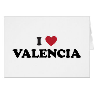 I Heart Valencia Card