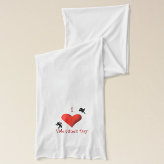 I Heart Valentines Day Design Scarf