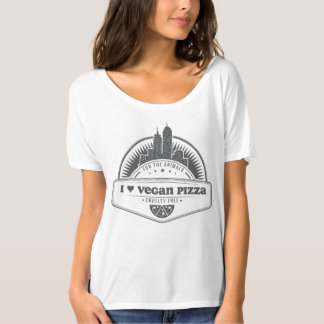 I Heart Vegan Pizza T-Shirt
