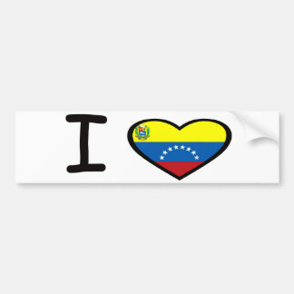 I Heart Venezuela Bumper Sticker