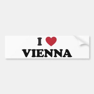 I Heart Vienna Austria Bumper Sticker
