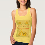 I Heart Vintage Books French  Tiger and Bee Hive Flowy Muscle Tank Top