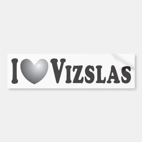 I Heart Vizslas - Bumper Sticker