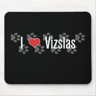 I (heart) Vizslas Mouse Pad