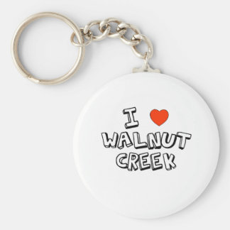 I Heart Walnut Creek Keychain