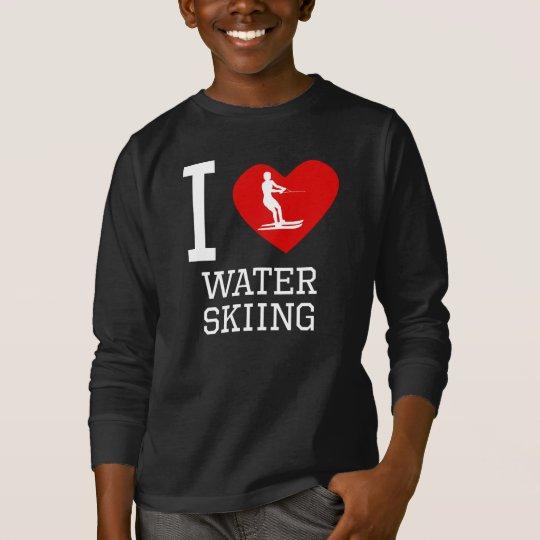 I Heart Water Skiing T-Shirt