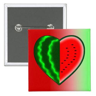 I (Heart) Watermelon 2 Inch Square Button