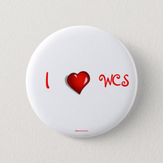 I Heart WCS 2 Inch Round Button