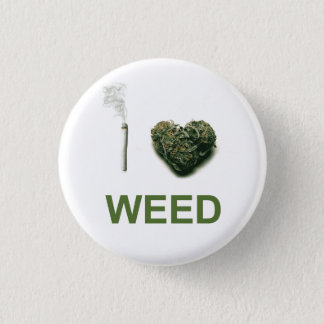 I Heart Weed 1 Inch Round Button