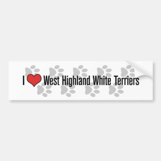 I (heart) West Highland White Terriers Bumper Sticker