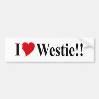 i heart westie bumper sticker
