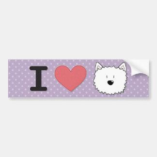 I heart westies bumper stickers