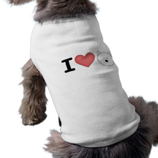 I (heart) westies doggie tee