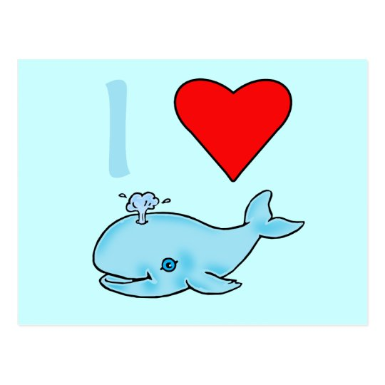 I Heart Whales Products Postcard
