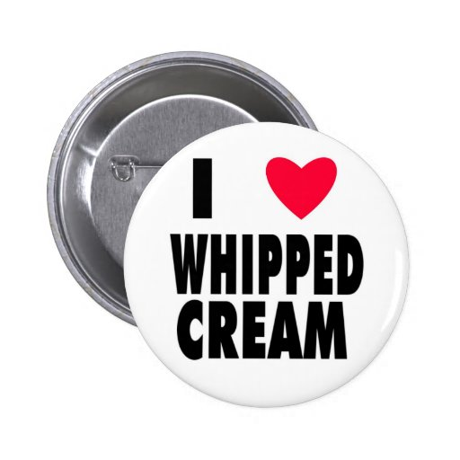 i heart WHIPPED CREAM Button