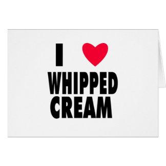 i heart WHIPPED CREAM Greeting Card