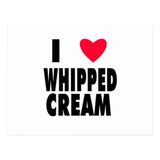 i heart WHIPPED CREAM Post Cards