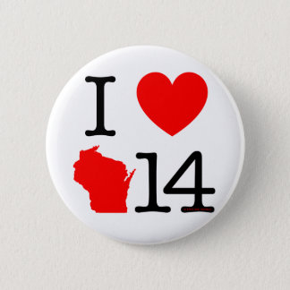 I Heart Wisconsin 14 2 Inch Round Button