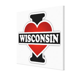 I Heart Wisconsin Gallery Wrap Canvas