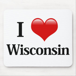 I Heart Wisconsin Mouse Pad