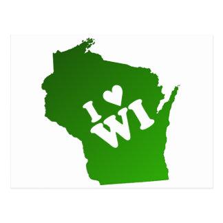 I Heart Wisconsin Postcard